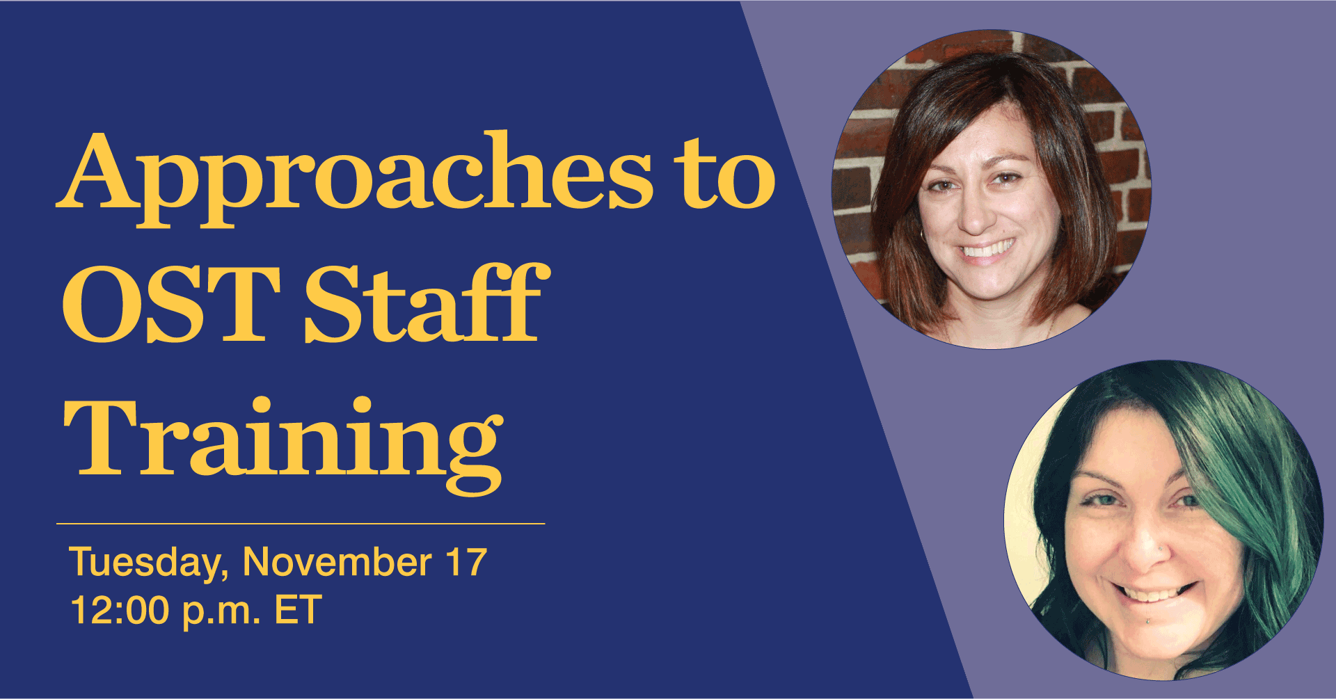 Approaches to OST Staff Training
