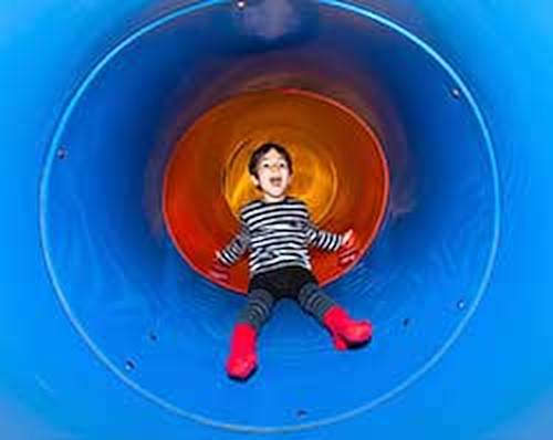 boy in tunnel
