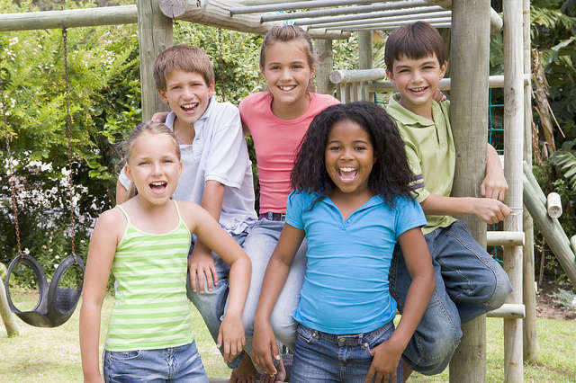 kids on playground 640x426